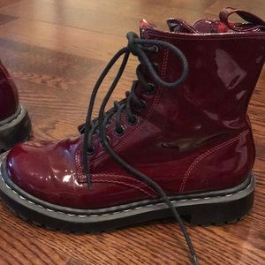 Oxblood patent boots
